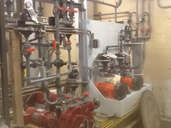 Chemical pumps and piping
