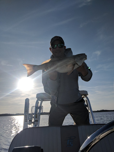 Look at that redfish gut!