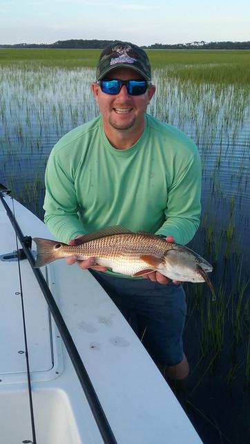Flood tide fishing Redfish on artificial