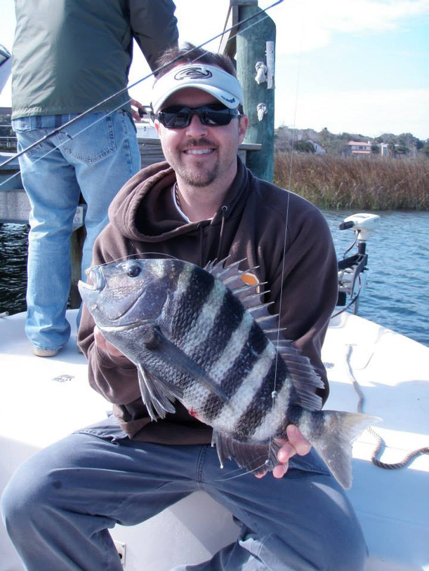 His first Sheepshead in St. Augustine