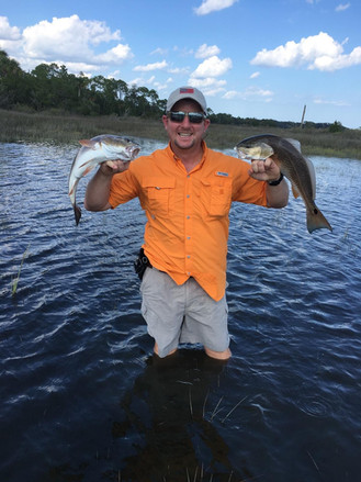 Wading the Flood Tide for redfish in Saint Augustine, FL