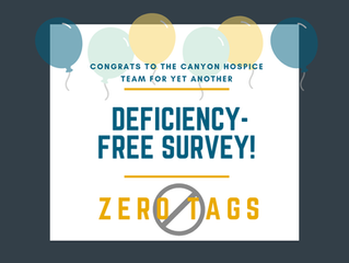 Thanks to our Canyon hospice team for setting a standard of excellence!