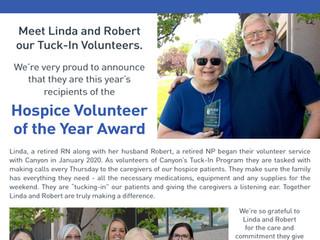 Linda and Robert - Awesome Volunteers!