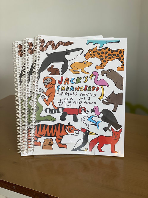 Jack's Endangered Animal Coloring Book