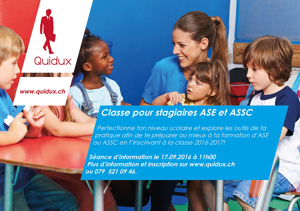 Stage ASE ou ASSC