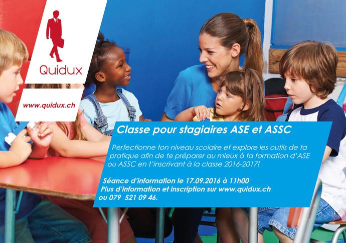 Optimise tes chances de réussite en t'inscrivant à notre classe pour stagiaires ASE et ASSC.
