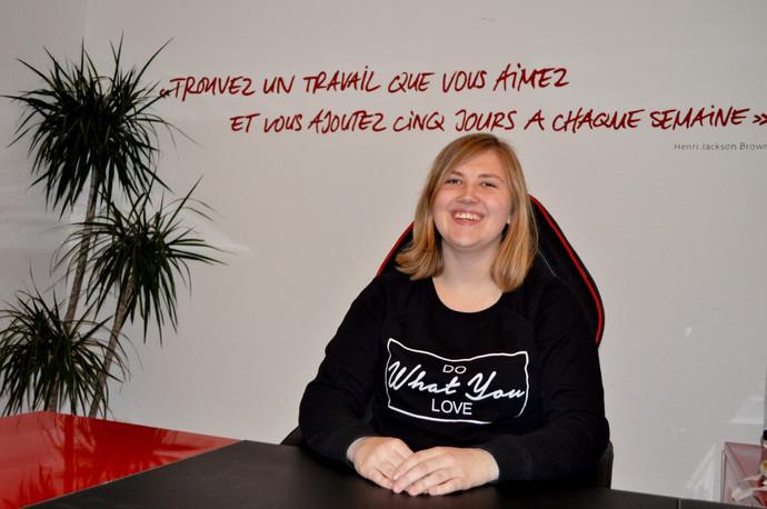 Raquel R. future apprentie gestionnaire du commerce de détail, résultat d'une collaboration fruc