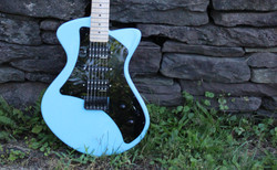 guitar on stone