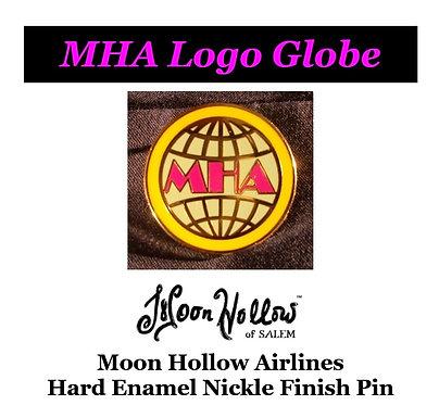 MHA Logo Globe Metal Pin
