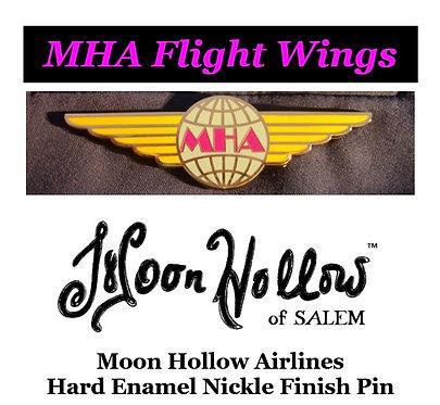 MHA Flight Wings Nickel Pin