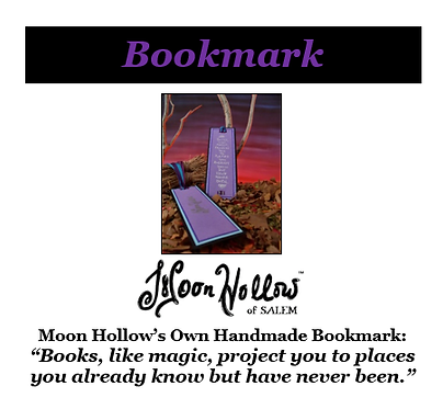 "Handmade Bookmark: ""Books, like magic..."""