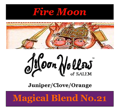 Blend No.21: 4 oz. 'Fire Moon' Magical Essential Oil Spray