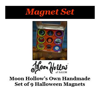 Moon Hollow Bottle Cap Magnet Set - 9 Magnets