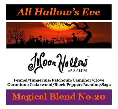 Blend No.20: 4oz. 'All Hallow's Eve' Magical Essential Oil Spray