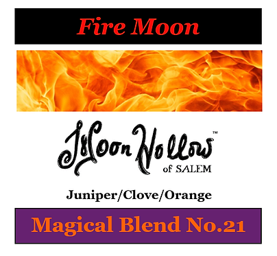 Blend No.21: 4 oz. 'Fire Moon' Magical Essential Oil Spray