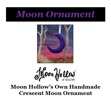 Handmade Crescent Moon Ornament