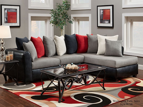 L6700D Victory Lane Dolphin American Made Sectional