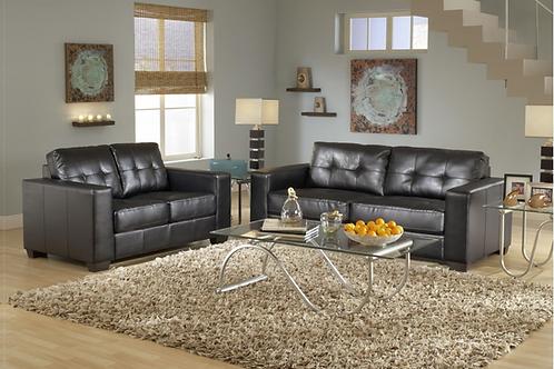 U6450 Contemporary Sofa + Loveseat Set