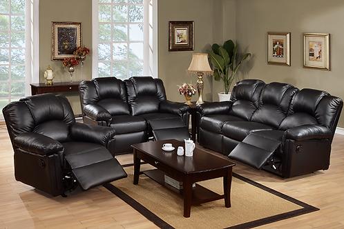 L6671 Black 3pc Living Room Set
