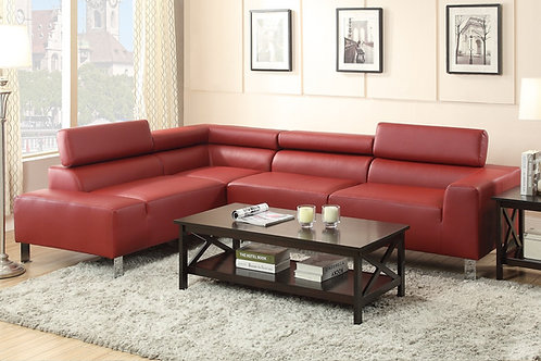 L7300 Faux Leather 2 Piece Sectional