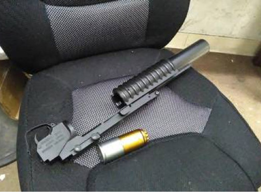 Loaded grenade launcher left with donated items at Goodwill store