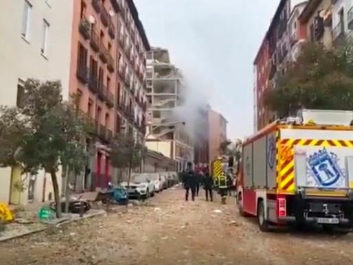 Explosion Rocks Madrid