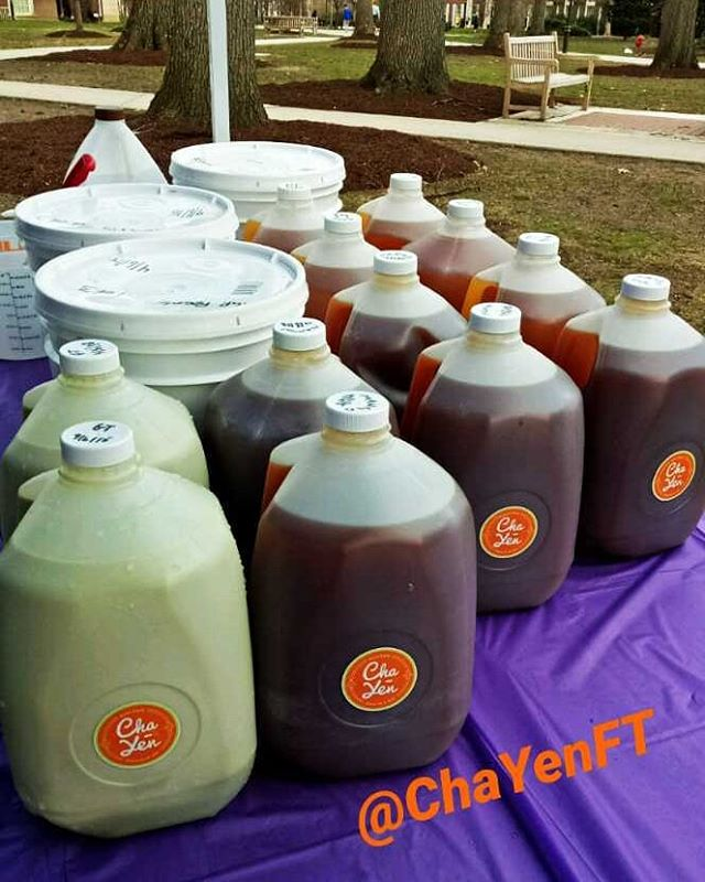 Dropped off these delicious Bubble Tea for 250 students at _tcnj_official tonight for Night Market E