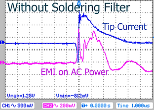 Soldering Iron Tip Current without CleanSwep Soldering Filter