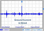 Ground current in a motor with SF series EMI filter