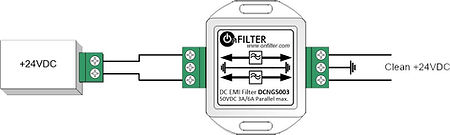 DC EMI filter DCNG5003 in differential mode