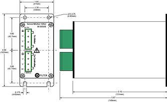 OnFILTER' Servo Motor / VFD SF20031 Filter Dimensions