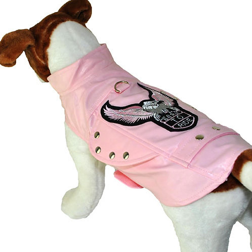 Pink Biker Harness Jacket 'Born To Ride'