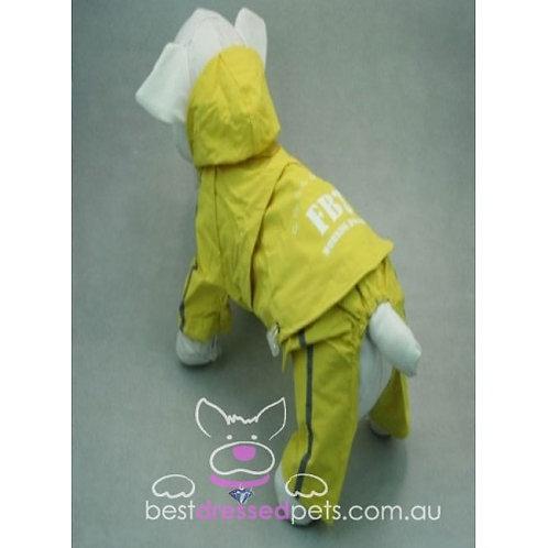 FBI Raincoat with Detachable Pants (Yellow)