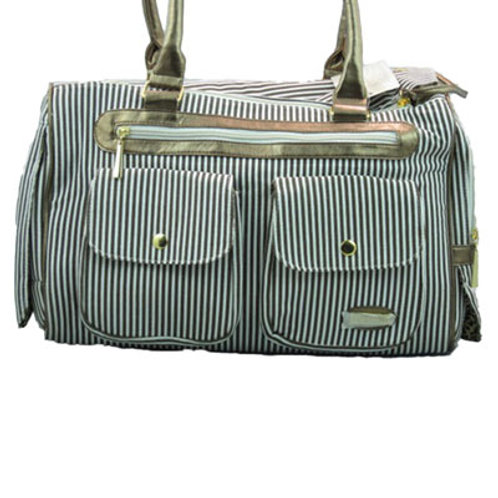 Travel in Style Striped Carrier Bag
