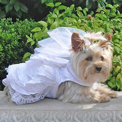 White Wedding Dress Set