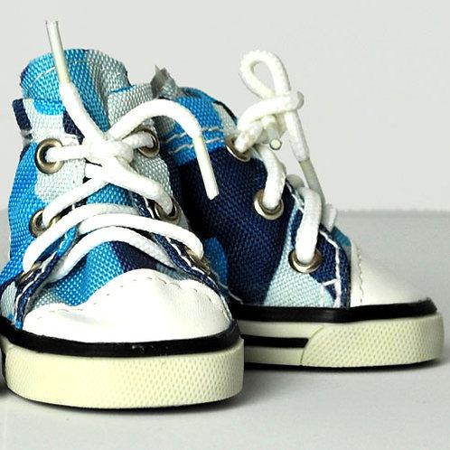 Blue Camo Sneakers
