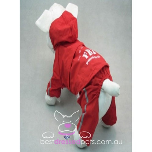copy of FBI Raincoat with Detachable Pants (Red)