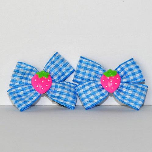 Strawberry Plaid Hair Pins