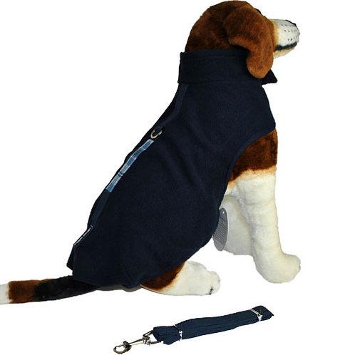 Navy Fleece with Leash