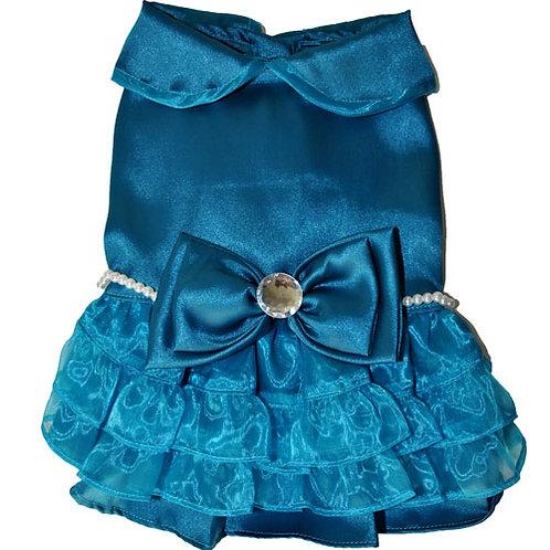 Formal Blue & Pearl Dress