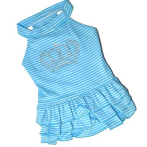 Blue Striped Crown Diamond Dress