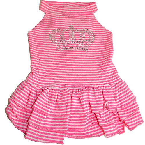Pink Striped Crown Diamond Dress