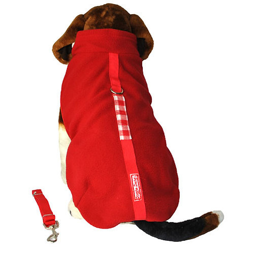 Red Fleece with Leash