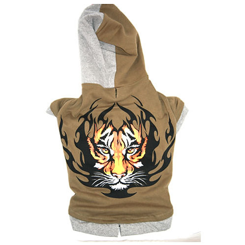 Khaki Green Tiger Hoodie 'Big Dog' Range