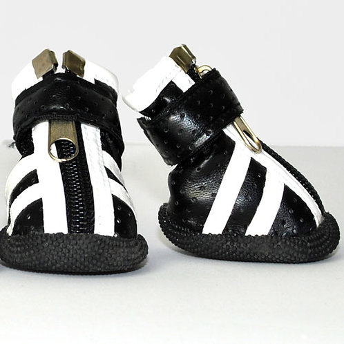 Black Sneaker with White Stripes