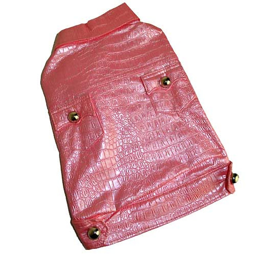 Pink Crocodile Leatherette Jacket