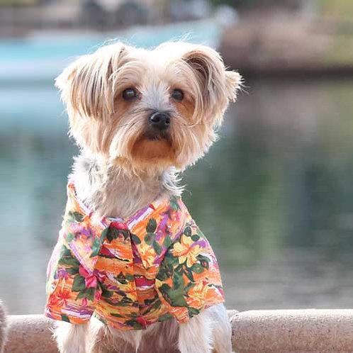 Hawaiian Shirt Sunset Hibiscus