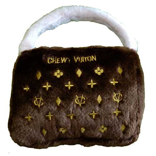 Brown 'Chewy Vuiton' Handbag Soft Toy (Large)
