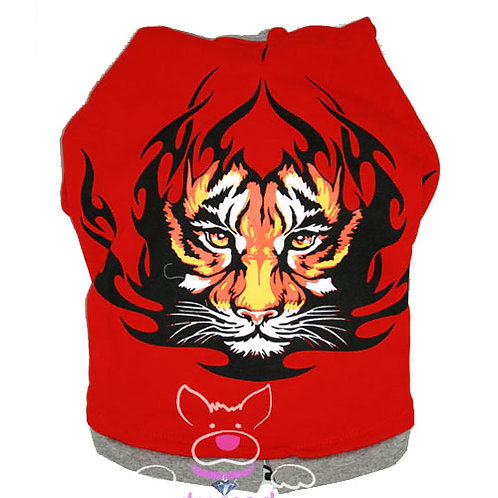 "Red Tiger Hoodie ""Small Dog"" Range"