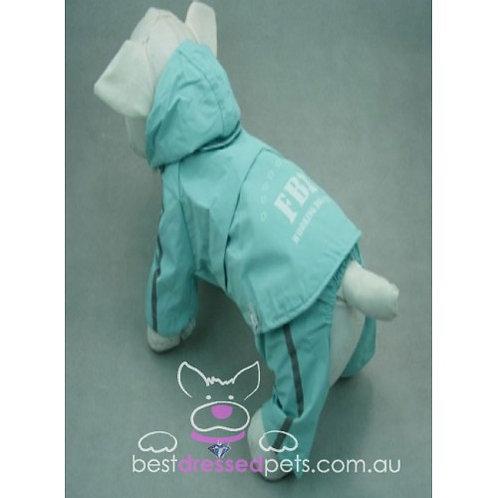 FBI Raincoat with Detachable Pants (Blue)